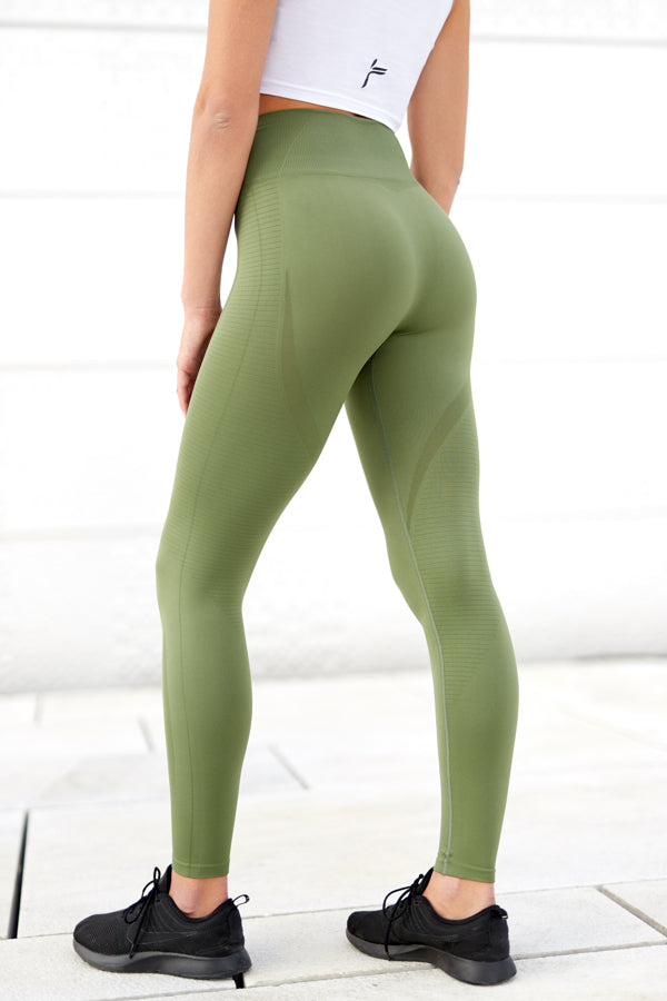 Army Green Vortex Leggings