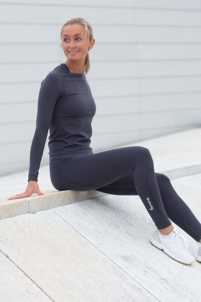 Dark Grey Vortex Leggings