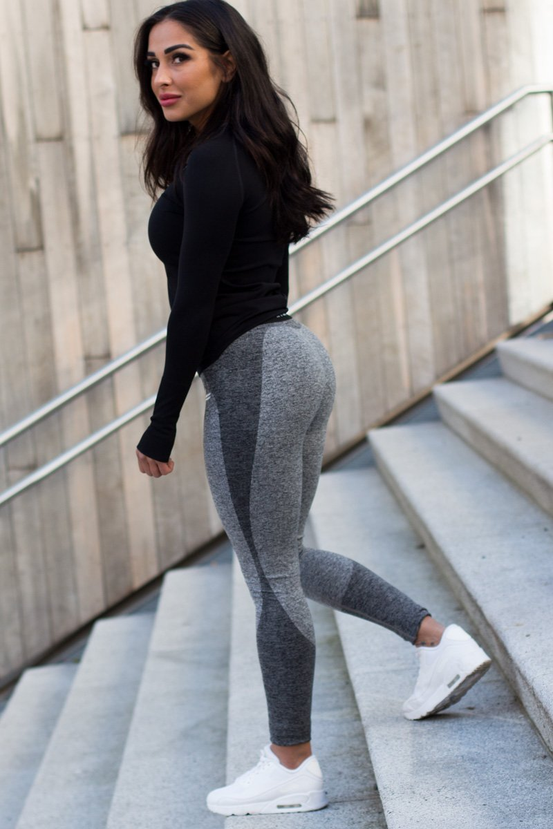 Dark Grey Wave Leggings