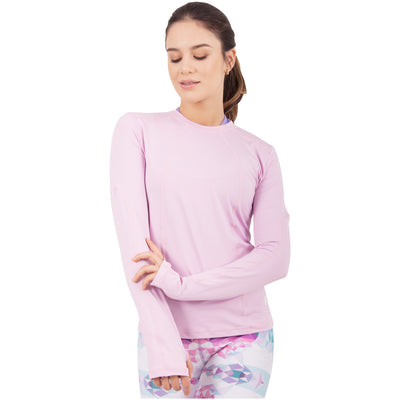 Violet Fractals Sports Sweatshirt With Thumbhole
