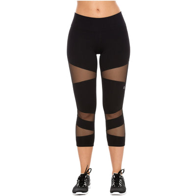 Activewear Womens Luxury Crop Workout Sports Slimming Capri Leggings
