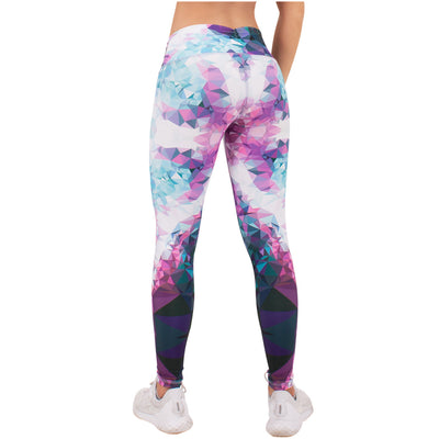 Violet Fractals Sublimated Leggings