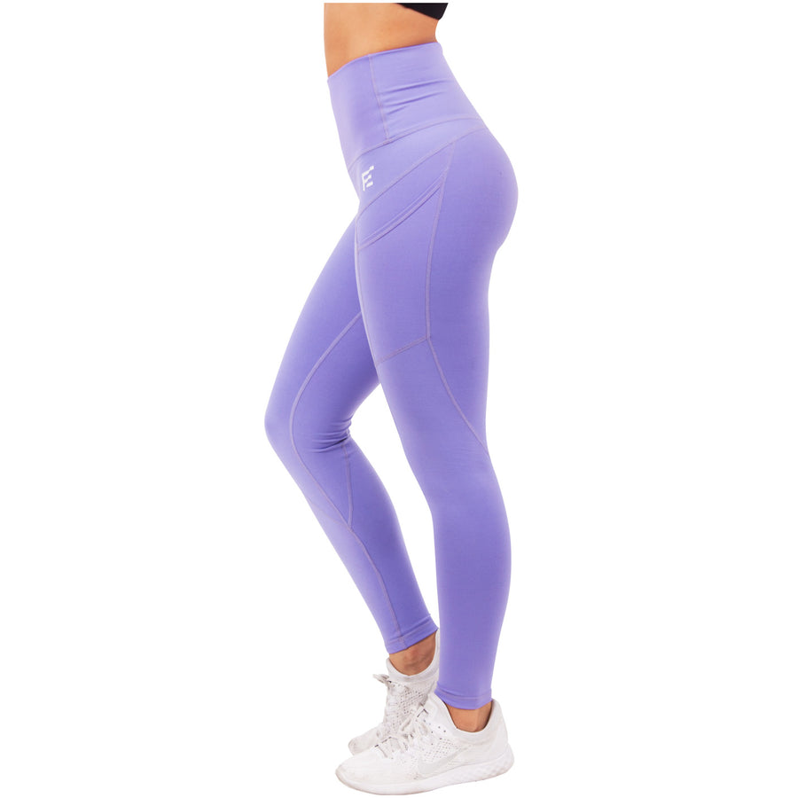 a8aed0b9b1 Violet Fractals High Waisted Leggings With Side Pocket