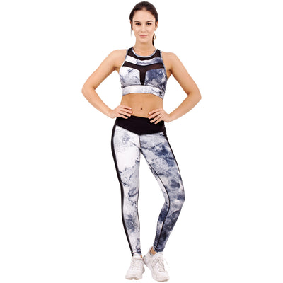 Marble Sublimated  Leggings With  Pockets