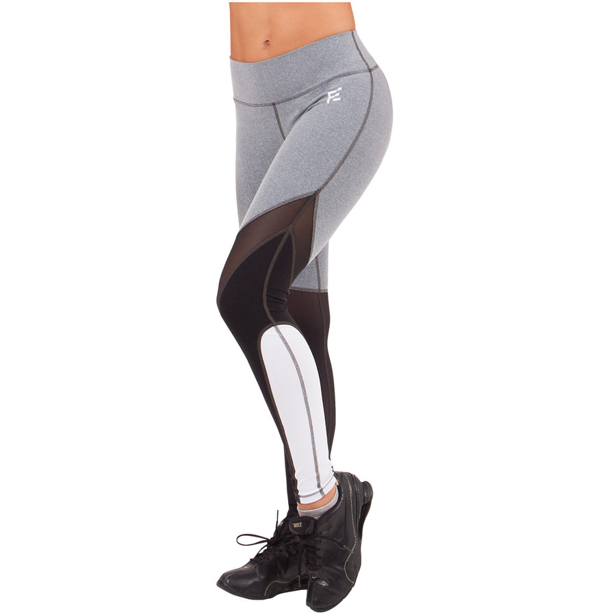 075281adcf Waves Sports Mid Rise Leggings Gray, Black, And White