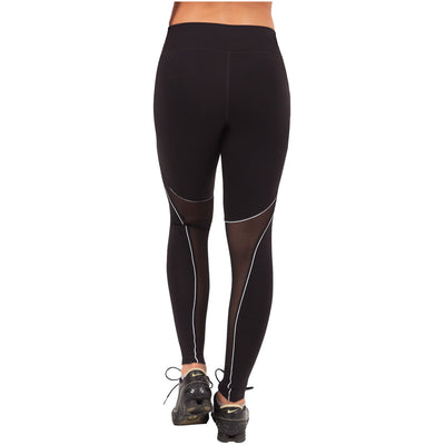 Waves Sports Mid Rise Leggings Black
