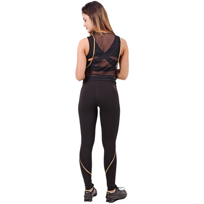 Luxury Golden Athletic Yoga Leggings
