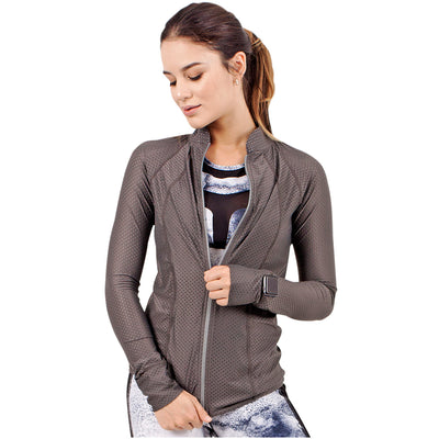 Marble Athleisure Jacket With Zipper