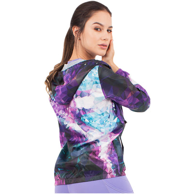 Violet Fractals Hooded Windbreaker