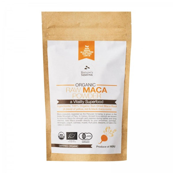 Bột maca hữu cơ sống Nature's Superfoods, 150g