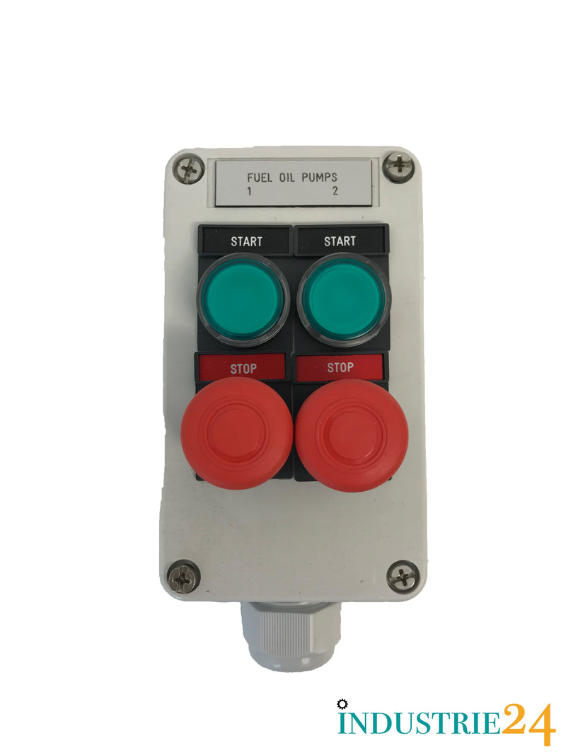 Start Stop Schalter Industrie ON / OFF Switch *Gebraucht/Used*