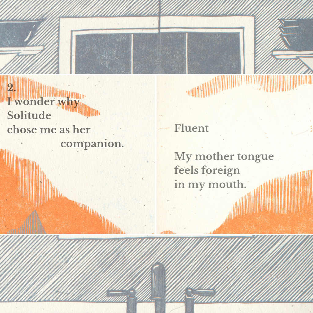 """Fluent, the Solitudes, Ola Bjelica """"my mother tongue/feels foreign/in my mouth"""""""