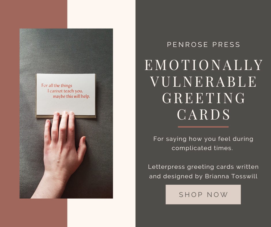 Emotionally vulnerable greeting cards