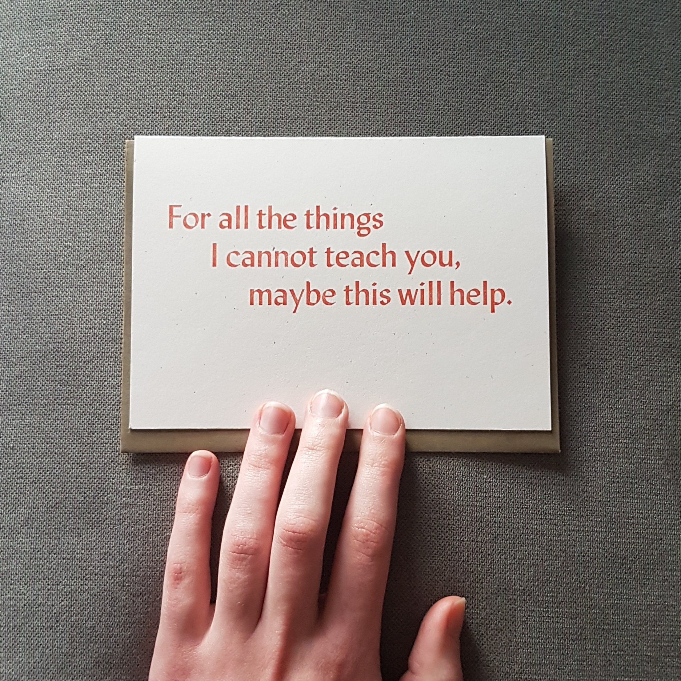 Greeting Card: For all the things...