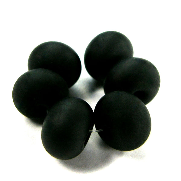 Handmade Lampwork Glass Beads, Black Etched 064e