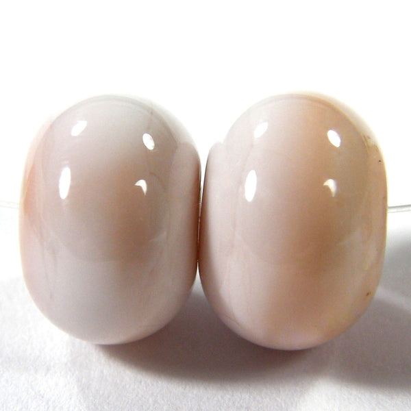 Handmade Lampwork Glass Beads, Pink Tongue Shiny Glossy 258g