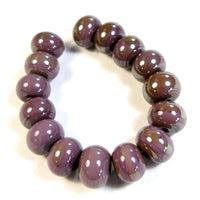 Handmade Lampwork Glass Beads, Violet Purple Shiny Glossy 272g