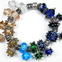Exampe group photo showing a bracelet filled with this bead set and others