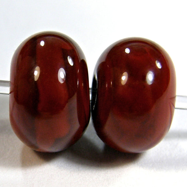 Handmade Lampwork Glass Beads, Red Flint Shiny Glossy 653g