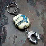 Southwest Horse Shoe and Lampwork Bead Key Chain