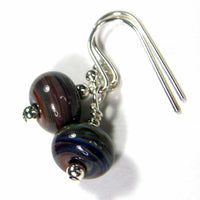 Earrings, Terranova Lampwork Dangle Earrings, Sterling Silver, Artisan Handmade Jewelry