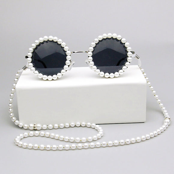 Fashion Design Pearl Chain Pearl Eyewear