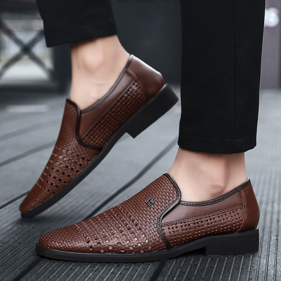 2020 Summer Men's Leather Soft Bottom Slip-On Shoes