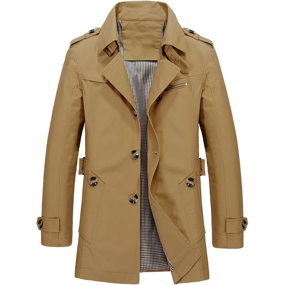 Vipupon Men's Spring Autumn Jacket Coat Fashion Trench Coat