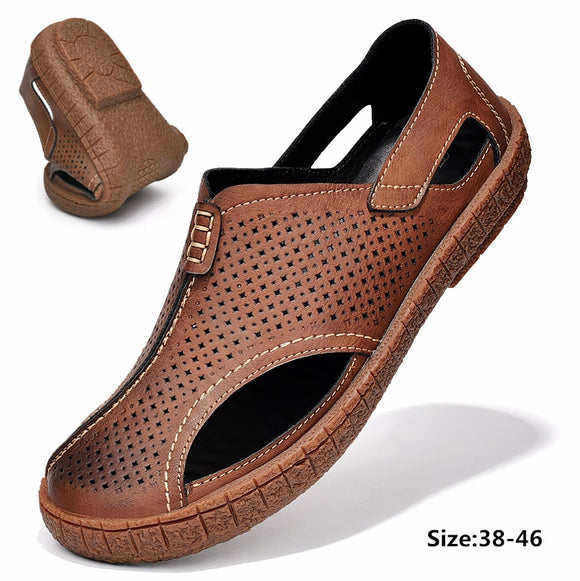 Vipupon 2020 Men's Summer Breathable Holes Non-slip Casual Sandals