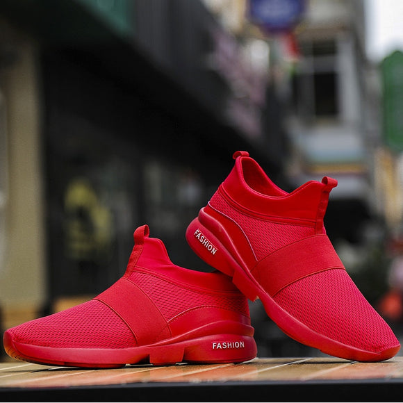 2020 Men's Breathable Casual Lightweight Fashion Mesh Large Size Walking Sneakers