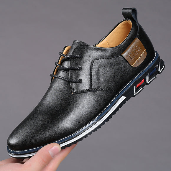Vipupon 2020 Men's New Big Size Oxfords Leather Shoes