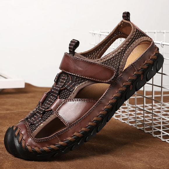 2020 Summer Men's New Genuine Leather Big Size Sandals
