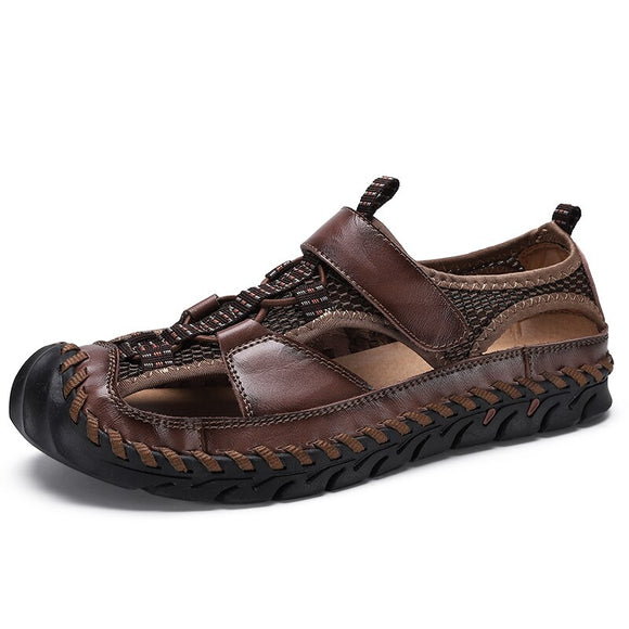[Standard Shipping] Men's New Genuine Leather Big Size Sandals