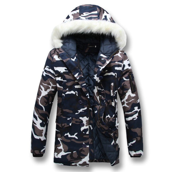 Vipupon Men's Fashion Hooded Camouflage 5XL Jacket