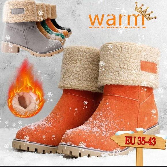 Vipupon Ladies' Winter Flock Warm Boots