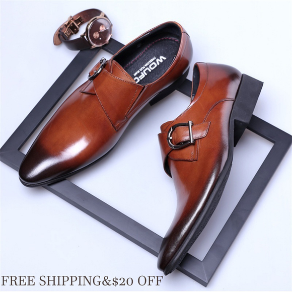 Shoes - 2018 Men's Business Casual Pointed-toe Leather Oxford Shoes