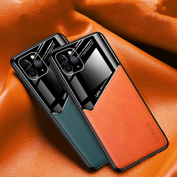 3D Leather Shockproof Case For iPhone With Car Magnetic Holder