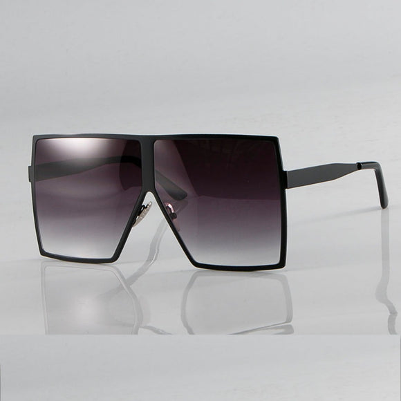 Metal Frame Oversized Square Sunglasses