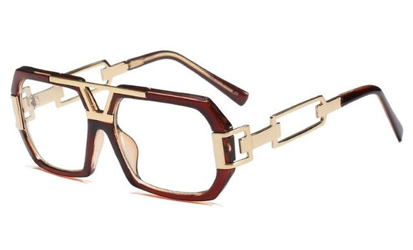 Retro Square Clear Optical Eyewear