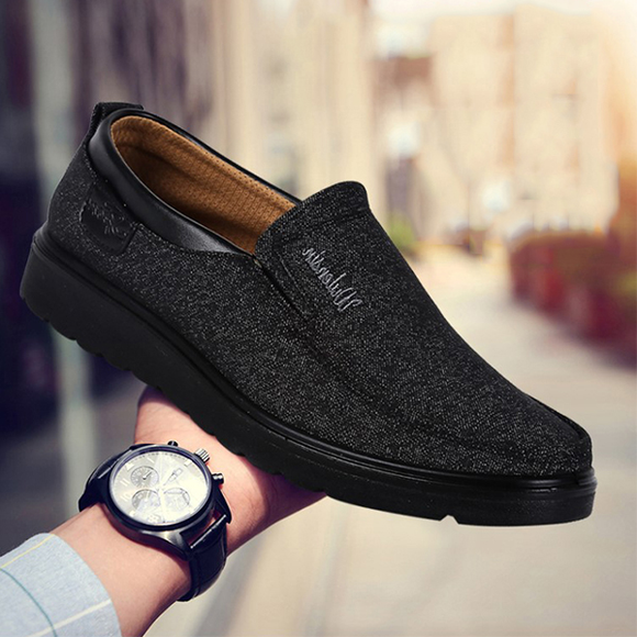 2019 Men's Casual Comfortable Flat Slip On Leather Shoes