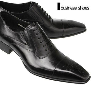 Shoes - High Quality Leather Pointed Toe Men's Classic Oxford Shoes