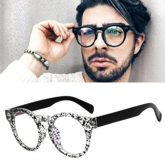 Transparent Oval Clear Lens Optical Glasses