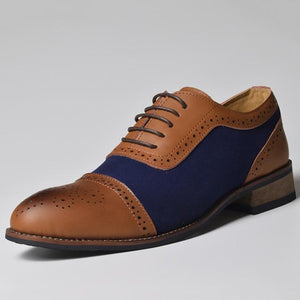 Handmade Brogue Dress Shoes For Men