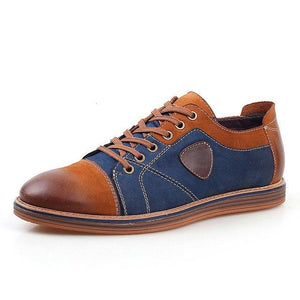 Men's Shoes - Fashion Men's Vintage Lace Up Genuine Leather Casual Shoes
