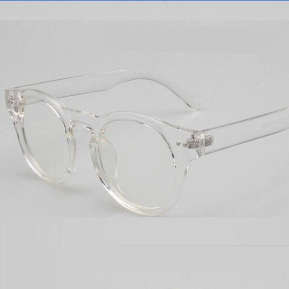 Classic Transparent Oval Clear Lens Optical Glasses