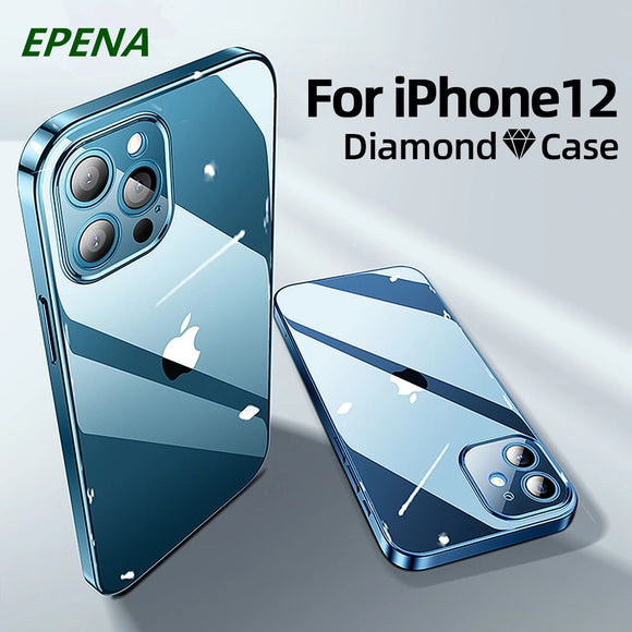 Shockproof Full Lens Protection Clear TPU Case For iPhone 12