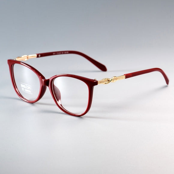 Fashion Cross Knot Shiny Rhinestone Optical Computer Glasses