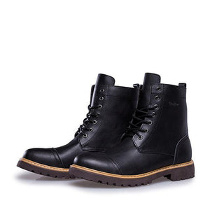 Fashion Men Autumn Winter Genuine Leather Ankle Boots