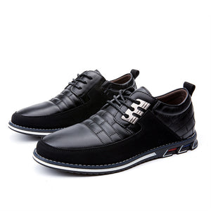 Vipupon Men's Big Size Casual Leather Oxford Shoes