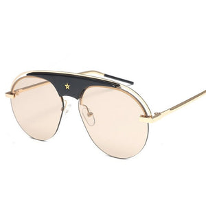 Tide Brand Round Star Sunglasses